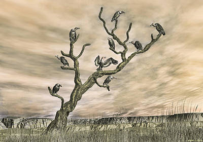 Digital Art - Scavenger Roost by Walter Colvin