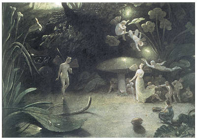 Toadstools Painting - Scene From A Midsummer Night's Dream by Francis Danby