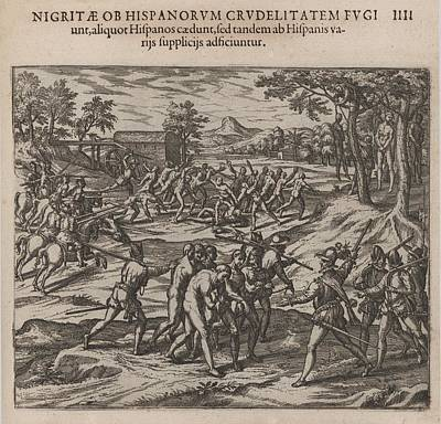 Scene Of Early Slavery In The Americas Art Print by Everett