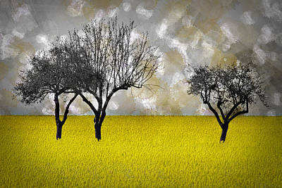 Scenery-art Landscape Art Print by Melanie Viola