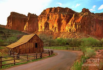 Capital Reef Photograph - Scenic Gifford Barn At Capital Reef Utah by Carolyn Rauh