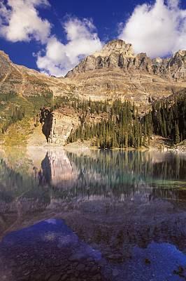 Animal Watercolors Juan Bosco - Scenic Mountain And Lake by Carson Ganci