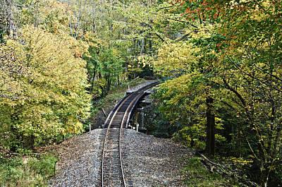 Scenic Railway Tracks Art Print by Susan Leggett