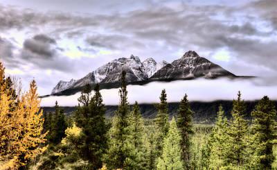 Scenic View Rocky Mountains Art Print