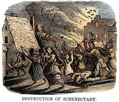1690 Photograph - Schenectady Raid, 1690 by Granger