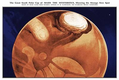 Schiaparelli's Mars, Historical Artwork Art Print by Detlev Van Ravenswaay