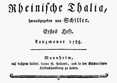 Schiller: Thalia, 1785 Print by Granger