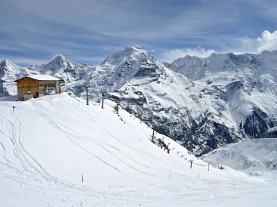 Grindelwald Photograph - Schilthorn Ski Area Above Grindelwald, Switzerland by Yvette Cardozo
