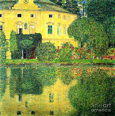 Schloss Kammer On The Attersee Art Print by Pg Reproductions