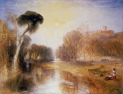 Reflecting Tree Painting - Schloss Rosenau by Joseph Mallord William Turner