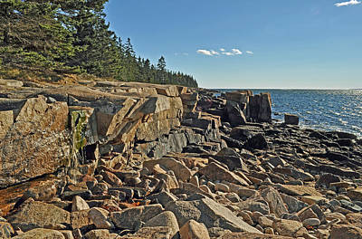 Photograph - Schoodic Point Acadia National Park 1 by Glenn Gordon
