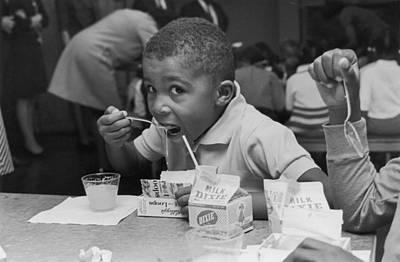 School Breakfast Art Print by Archive Photos