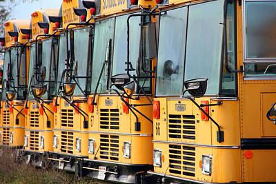 Photograph - School Bus Graveyard by Mark J Seefeldt