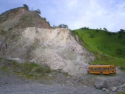 Photograph - School Bus Grounds by Joey Huertas