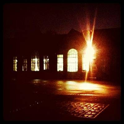Norfolk Wall Art - Photograph - #school By #night #stickygrams #street by Just Berns
