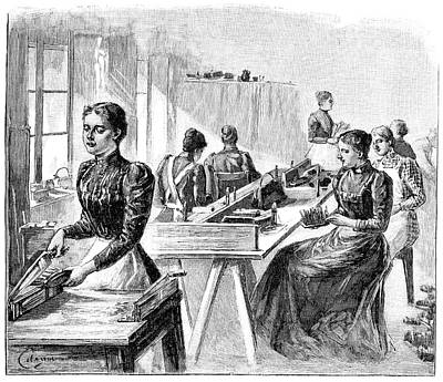 School For The Blind, 19th Century Art Print by