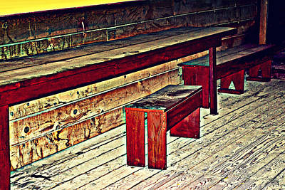 Photograph - School House Benched And Dusted by Diane montana Jansson