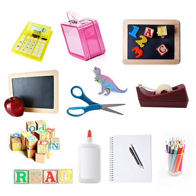 Preschool Photograph - School Objects by HD Connelly