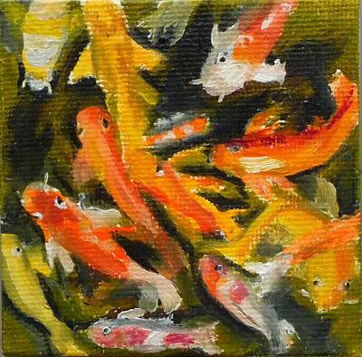 School Of Koi Art Print