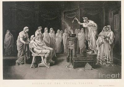 School Of Vestal Virgins Art Print by Granger