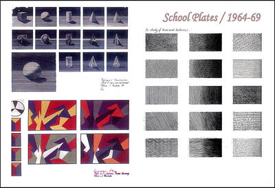 Drawing - School Plates 1964 To 69 by Glenn Bautista