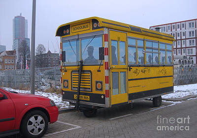 Photograph - Schoolbus Rotterdam by Nop Briex