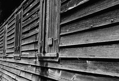 Photograph - Schoolhouse Bw by Lynnette Johns