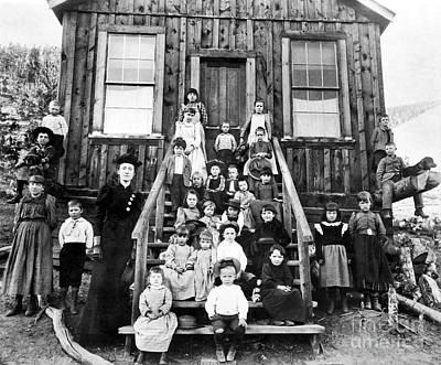 One Room Schoolhouse Photograph - Schoolmistress, 1893 by Granger