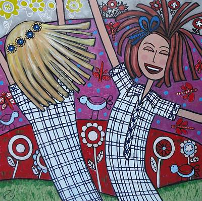 Painting - Schools Out by Elizabeth Langreiter