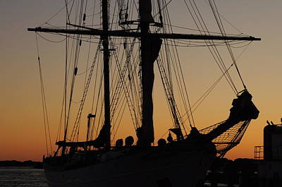 Photograph - Schooner In Woods Hole by Gerald Hiam