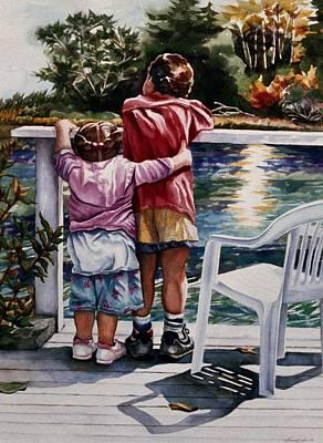 Schooner Creek Art Print by Maureen Dean
