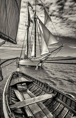 Photograph - Schooner Mary Day Alongside by Fred LeBlanc
