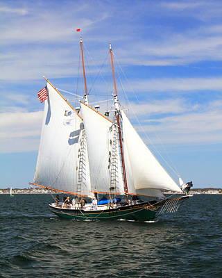 Sailboat Photograph - Schooner Thomas E Lannon by Roupen  Baker