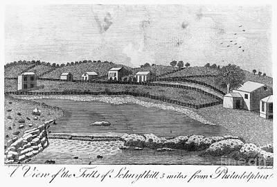 Photograph - Schuylkill Falls, 1793 by Granger