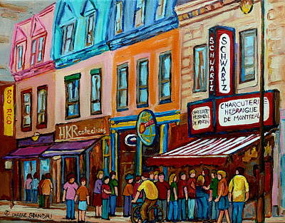 Painting - Schwartz's Hebrew Deli Smoked Meat by Carole Spandau