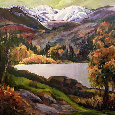 Ski Run Painting - Schweitzer Glow by Barbara Field