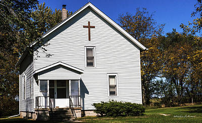 Photograph - Sciola Baptist Church 1864 by Edward Peterson