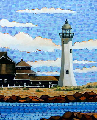 Scituate Light House Art Print