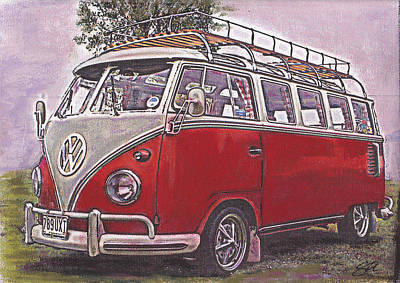 Scoobie Split Art Print by Sharon Poulton
