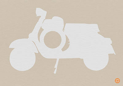 Vintage Car Drawing - Scooter Brown Poster by Naxart Studio