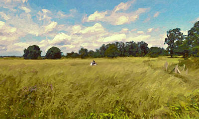 Painting - Scootering Through The Fields by Nop Briex