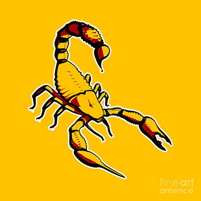 Monster Photograph - Scorpion Graphic  by Pixel Chimp