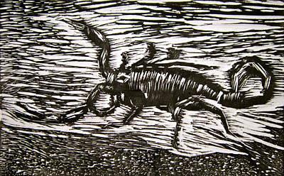Scorpion Art Print by Marita McVeigh