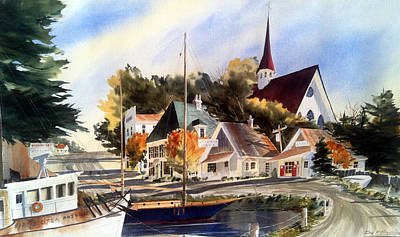 Scotia Princess ---annapolis N.s. Art Print by Don F  Bradford