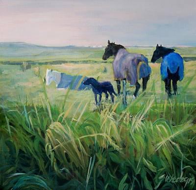 Painting - Scotland Fields by Sheila Wedegis