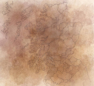 Painting - Scotland by Sheep McTavish