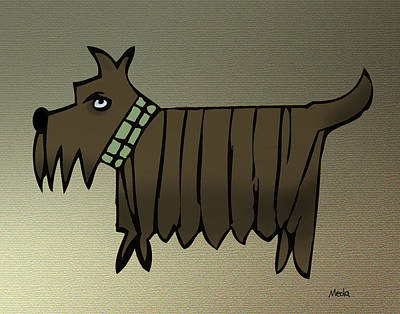 Scottish Dog Digital Art - Scottish Terrier by Daniel Meola