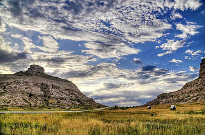 Art Print featuring the photograph Scott's Bluff National Monument by Geraldine Alexander