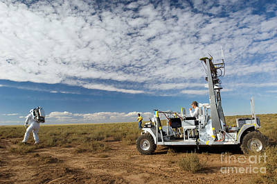 Photograph - Scout Rover Testbed Follows An by Stocktrek Images