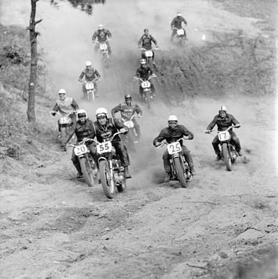 Motocross Photograph - Scrambling by Sherman